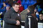 St Johnstone v Aberdeen...23.01.15   SPFL<br /> Tommy Wright shakes hands with Derek McInnes<br /> Picture by Graeme Hart.<br /> Copyright Perthshire Picture Agency<br /> Tel: 01738 623350  Mobile: 07990 594431