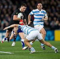 Rugby World Cup Auckland  New Zealand v Argentina Quarter Final 4 - 09/10/2011.Cory Jane  (New Zealand)   .Photo Frey Fotosports International/AMN Images