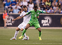 Chester, PA - June 3, 2014: Greece tied Nigeria 0-0 during an international friendly at PPL Park.