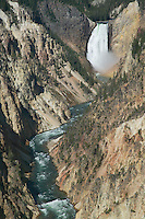 Grand Canyon of the Yellowstone and Lower Falls from Artist Point, Yellowstone National Park