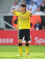 FUSSBALL   1. BUNDESLIGA  SAISON 2011/2012   2. Spieltag   13.08.2011 TSG 1899 Hoffenheim - Borussia Dortmund  Enttaeuschung Borussia Dortmund:  Shinji Kagawa