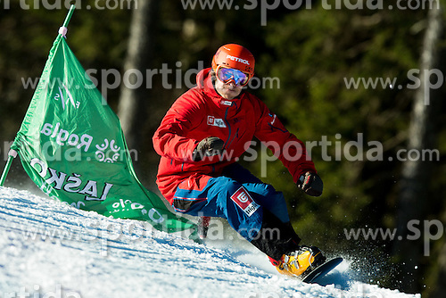 Zan Kosir during training of Snowboarding Team Slovenia prior to the 2015 FIS Freestyle Ski and Snowboard World Championships in Kreischberg (AUT) on January 13, 2015 in Rogla, Slovenia. Photo by Vid Ponikvar / Sportida