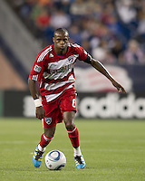 FC Dallas midfielder Jackson Goncalves (6) at midfield. In a Major League Soccer (MLS) match, the New England Revolution defeated FC Dallas, 2-0, at Gillette Stadium on September 10, 2011.