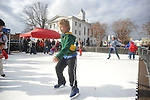 Jay Wenger skates on synthetic ice in Oxford, Miss. on Saturday, December 15, 2012.