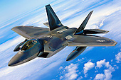 An F-22 Raptor soars through the skies on its way to Joint Base Pearl Harbor Hickam, Hawaii, July 2, 2010. The first of 20 F-22 Raptors, the U.S. Air Force's most advanced fighter jet was scheduled to be dedicated at the base July 9, 2010. The ceremony will mark the beginning of the partnership between the Hawaii Air National Guard and the active duty Air Force flying the fighter at Hickam. .Mandatory Credit: Gustavo Gonzalez - DoD via CNP