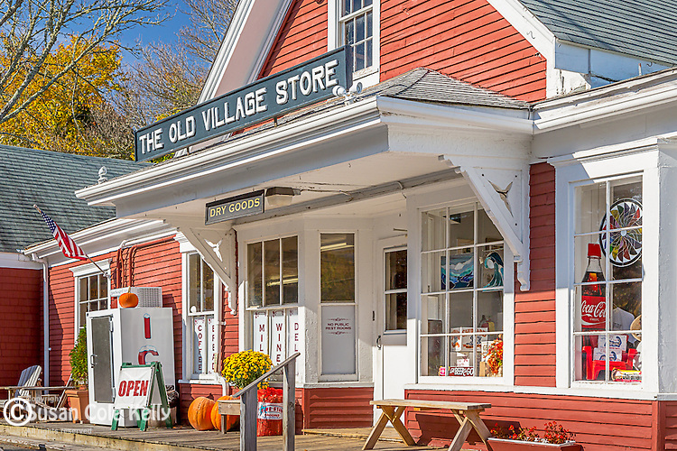 Fall at the Old Village Store in Barnstable, Cape Cod, Massachusetts, USA