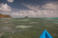 Kayaking Towards Paddy's Island from Turtle Island, Yasawa Islands, Fiji