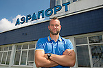 St Johnstone v FC Minsk...31.07.13<br /> Keeper Alan Mannus at Grodno Airport in Belarus where they will play FC Minsk tomorrow night.<br /> Picture by Graeme Hart.<br /> Copyright Perthshire Picture Agency<br /> Tel: 01738 623350  Mobile: 07990 594431