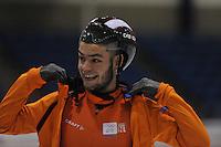 SCHAATSEN: HEERENVEEN: 28-01-14-2013, IJsstadion Thialf, Training Topsport, Sjinkie Knegt, ©foto Martin de Jong