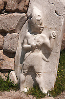 Photo of the Hittite releif sculpture on the Kings gate to the Hittite capital Hattusa 5