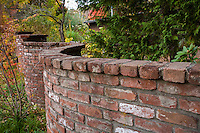 Brick serpentine wall at Marin Art & Garden Center