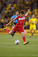 3 JULY 2010:  Stefan Dimitrov of Chicago Fire (7) during MLS soccer game between Chicago Fire vs Columbus Crew at Crew Stadium in Columbus, Ohio on July 3, 2010.