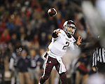 Texas A&amp;M quarterback Johnny Manziel (2) passes against Ole Miss in Oxford, Miss. on Saturday, October 6, 2012. Texas A&amp;M won 30-27...