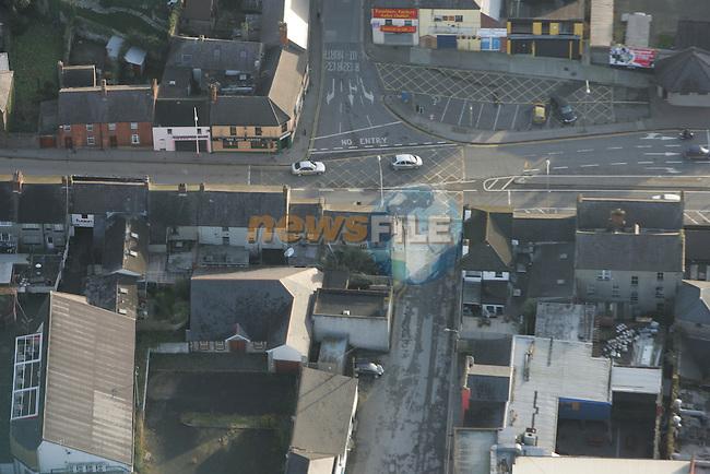 Aerial of Drogheda Fairgreen area.Photo: Fran Caffrey/ Newsfile.