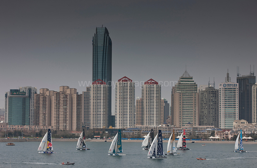 2012 Extreme sailing Series. Qingdao &quot;Double Star&quot; Cup. Act 2 . Qingdao. China. . .Credit: Lloyd Images