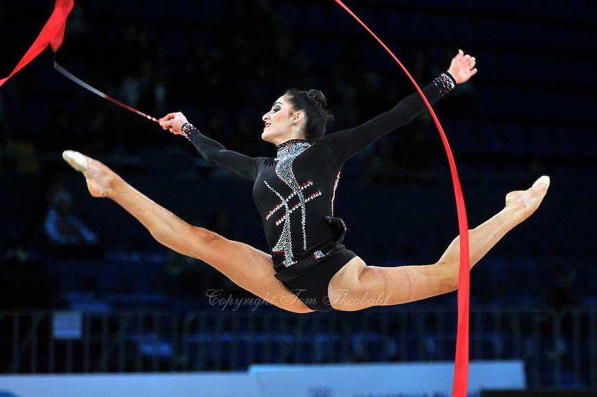 """ZEYNAB JAVADLI of Azerbaijan performs at 2011 World Cup Kiev, """"Deriugina Cup"""" in Kiev, Ukraine on May 7, 2011."""