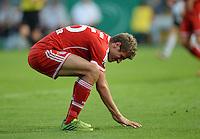 FUSSBALL       DFB POKAL 1. RUNDE        SAISON 2013/2014 in Osnabrueck BSV Schwarz-Weiss Rehden  - FC Bayern Muenchen  06.08.2013 Thomas Mueller (FC Bayern Muenchen) nachdenklich