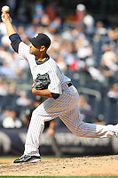 09/19/11 Bronx, NY: New York Yankees relief pitcher Cory Wade #53 during an MLB game played at Yankee Stadium between the Minnesota Twins and the New York Yankees. The Yankees defeated the Twins 6-4.