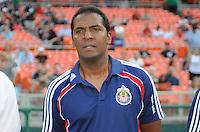 Chivas USA  assistant coach Carlos Llamosa.   DC United defeated Chivas USA 3-2 at RFK Stadium, Saturday  May 29, 2010.