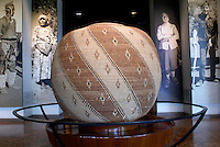 Giant Seri Indian basket on display in the National Museum of Anthropology, Chapultepec Park, Mexico City