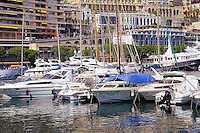 Luxury yachts in Monaco harbor