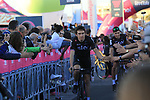 Geraint Thomas (WAL) Team Sky at the Team Presentation in Alghero, Sardinia for the 100th edition of the Giro d'Italia 2017, Sardinia, Italy. 4th May 2017.<br /> Picture: Eoin Clarke | Cyclefile<br /> <br /> <br /> All photos usage must carry mandatory copyright credit (&copy; Cyclefile | Eoin Clarke)