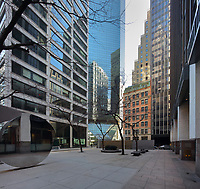 Buildings on Water St, Downtown Manhattan, New York, New York, USA. Picture by Manuel Cohen