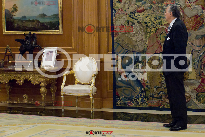 Juan Carlos I of Spain attend the audience with I&ntilde;aki Azkuna Urreta, Mayor of Bilbao, at the Royal Palace of La Zarzuela. In the image I&ntilde;aki Azkuna Urreta (Alterphotos/Marta Gonzalez) /NortePhoto.com<br />