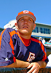 5 March 2006: Joe Horgan, pitcher for the Washington Nationals, looks out of the dugout prior to a Spring Training game against the Baltimore Orioles. The Nationals defeated the Orioles 10-6 at Space Coast Stadium, in Viera Florida...Mandatory Photo Credit: Ed Wolfstein..