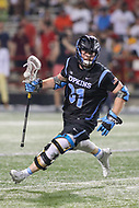 College Park, MD - April 29, 2017: Johns Hopkins Blue Jays Hunter Moreland (31) in action during game between John Hopkins and Maryland at  Capital One Field at Maryland Stadium in College Park, MD.  (Photo by Elliott Brown/Media Images International)