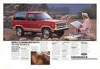 Print Ad: Ford Bronco II, California, 1987. Photo by John G. Zimmerman.