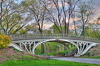 Gothic Bridge, &quot;Reservoir Bridge West 94th Street&quot;, New York, New York, Central Park, designed by Calvert Vaux