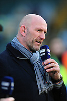 Lawrence Dallaglio speaks on BT Sport after the match. Aviva Premiership match, between Bath Rugby and Wasps on March 4, 2017 at the Recreation Ground in Bath, England. Photo by: Patrick Khachfe / Onside Images