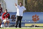 09 November 2010: NC State head coach George Tarantini. The North Carolina State University Wolfpack defeated the Virginia Tech Hokies 6-3 at Koka Booth Stadium at WakeMed Soccer Park in Cary, North Carolina in the ACC Men's Soccer Tournament Play-In game.