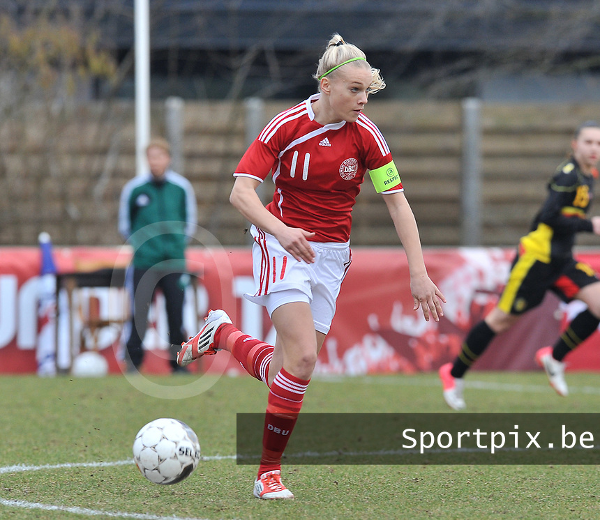 Denmark U17 - Belgium U17 : Stine Larsen (C).foto DAVID CATRY / Vrouwenteam.be