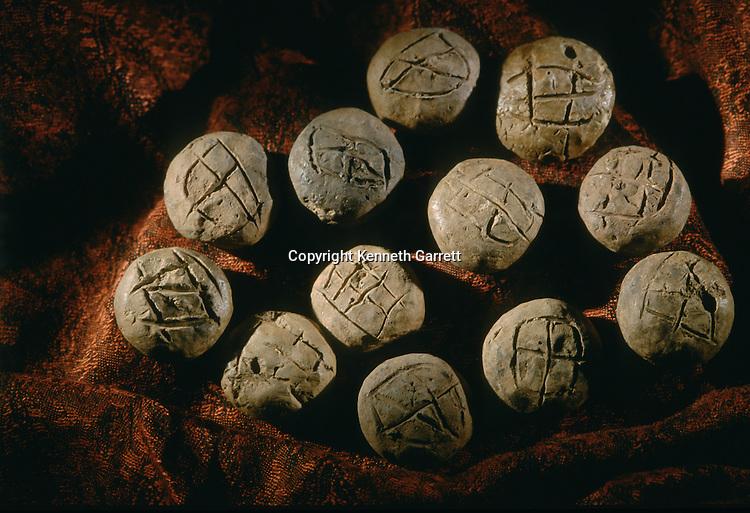 Round bullae; artifact, Oxus Civilization; Turkmenistan; Gonor Depe site; Victor Sarianidi; Archaeology; BMAC complex
