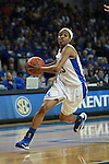 UK guard Bria Goss dribbles the ball during the first half of the UK vs. Tennessee at Memorial Coliseum in Lexington, Ky., on Sunday, March 3, 2013. Photo by Emily Wuetcher | Staff....