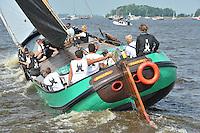 SKUTSJESILEN: ELAHUIZEN: 26-07-2013, SKS skûtsjesilen, Skûtsje Sneek wint, ©foto Martin de Jong