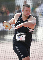 Adam Kuehl threw 60.64m in the discus throw at the Adidas Track Classic 2009 on Saturday May 16, 2009. Photo by Errol Anderson, The Sporting Image.net