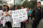 Mexican students from the #YoSoy132 movement stage a rally against the electoral fraud on a Mexico City's main thoroughfares, JUly 2, 2012. The students demand to clean the elections because of a great amount of irregularities during the journey. President Calderon and the Federal Electoral Institute (IFE) presindet Leonardo Valdes declared Institutional Revolutionary Party (PRI), Enrique Pena Nieto, the virtual winner of the elections. Photo by Heriberto Rodriguez