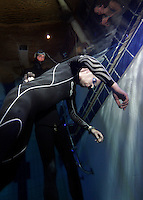 The first Norwegian freediving championship, held in Askinm, Norway..Bjarte Nygard  doing static apnea 6 min 12 seconds. © Fredrik Naumann/Felix Features