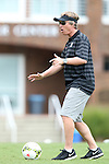 24 August 2014: Stanford head coach Paul Ratcliffe. The Duke University Blue Devils played the Stanford University Cardinal at Fetzer Field in Chapel Hill, NC in a 2014 NCAA Division I Women's Soccer match. Stanford won the game 2-0.