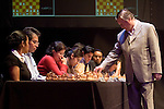 Former world chess champion Anatoli Karpov plays chess with 25 students simultaneously at the National University of Mexico, October 19, 2006.    © Photo by Javier Rodriguez