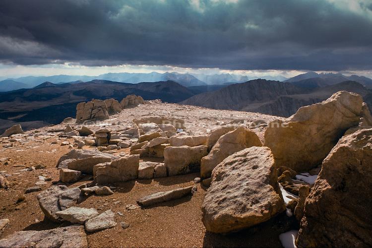 Top of Mt Whitney,Sierra Nevada Range,California