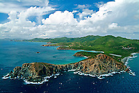 Aerial view of Ram's Head and the south shore of St John looking west with Estate Concordia<br />