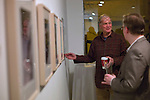 "David Letterman's  staff holiday party and photo gallery exhibition by his staff writer Steve Young entitled ""CELEBRIGUM"" held at Ameringer McEnery Yohe Gallery  in New York. ..Photo by Robert Caplin."