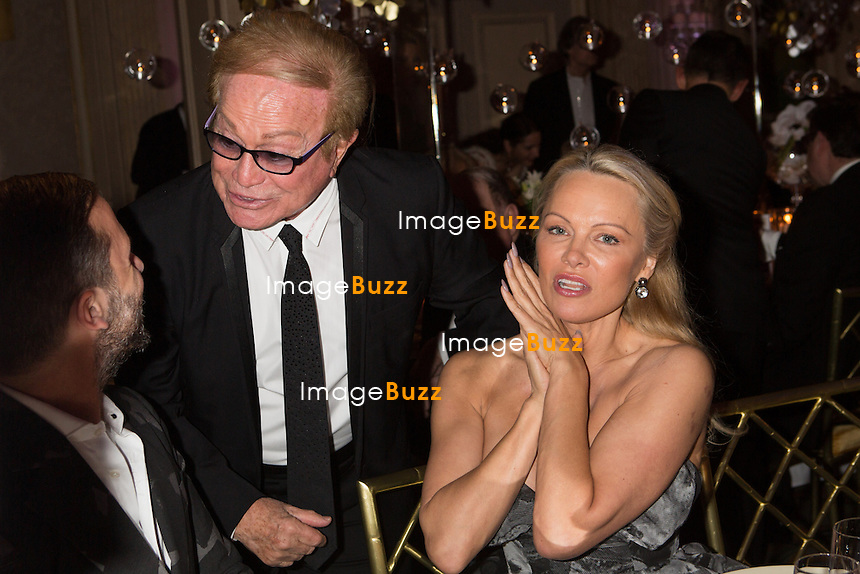Pamela Anderson &amp; Orlando : &quot; The Best &quot; 40th Edition &agrave; l'h&ocirc;tel George V.<br /> France, Paris, 27 janvier 2017.<br /> ' The Best ' 40th Edition at the George V hotel in Pais.<br /> France, Paris, 27 January 2017