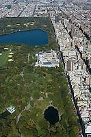 aerial photograph Central Park, Metropolitan Museum of Art, Manhattan, New York City