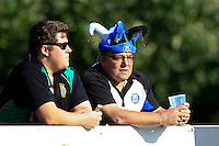 A Bath Rugby supporter in the crowd looks on during the match. Pre-season friendly match, between Yorkshire Carnegie and Bath Rugby on August 13, 2016 at Ilkley RFC in Ilkley, England. Photo by: Ian Smith / Onside Images