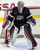 Adam Scheel (NTDP - 30) - The Harvard University Crimson defeated the US National Team Development Program's Under-18 team 5-2 on Saturday, October 8, 2016, at the Bright-Landry Hockey Center in Boston, Massachusetts.